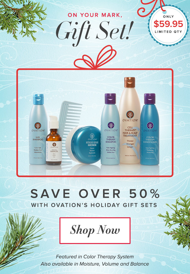Save on Ovation Hair Cell Therapy this Season with Gift Sets