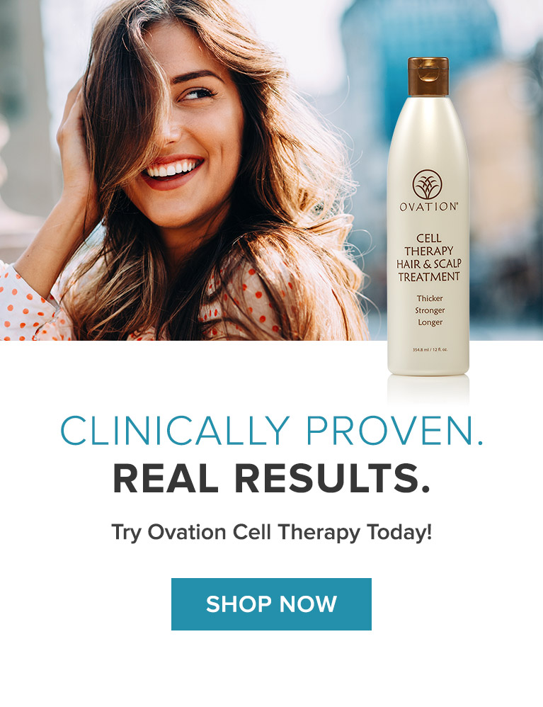 Cell Therapy Hair and Scalp Treatment - Thicker, Stronger, Longer - Healthier Hair