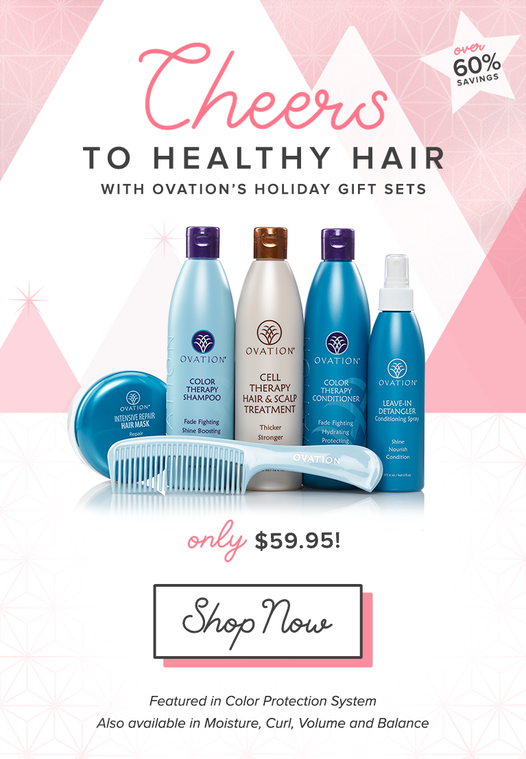 Holiday Savings are Here with Ovation Hair Gift Sets - Over 60% Savings