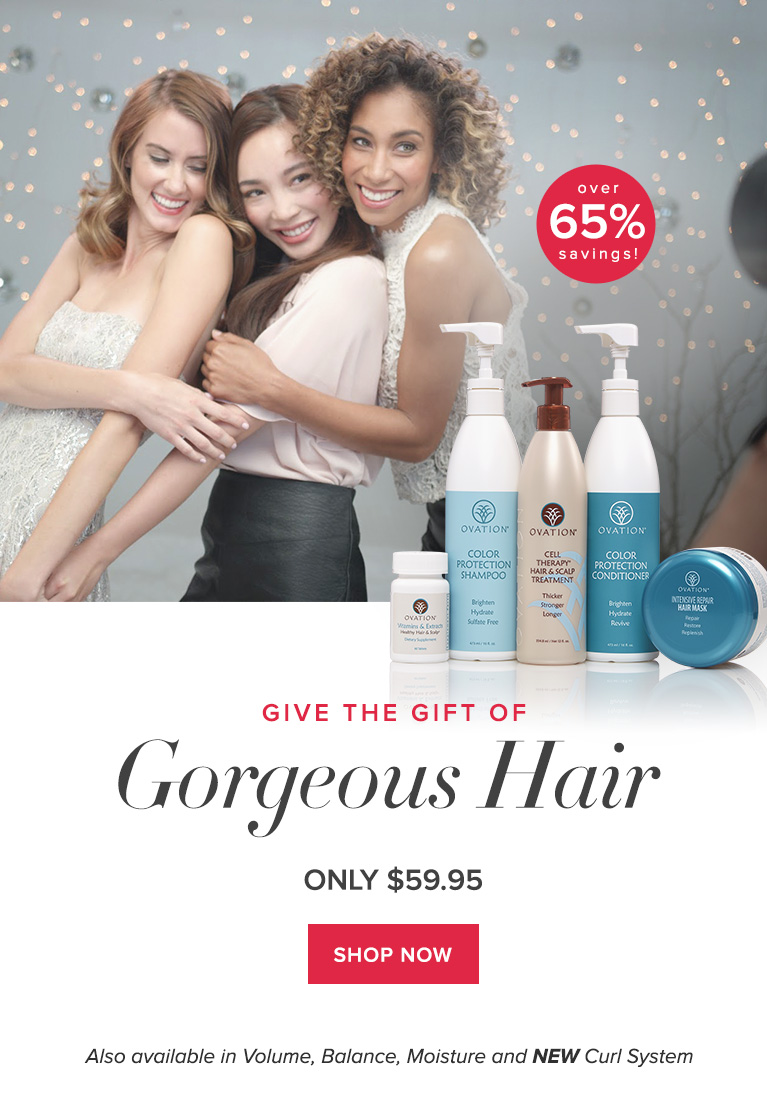 Save Over 65% with Ovation Hair's Holiday Gift Set!