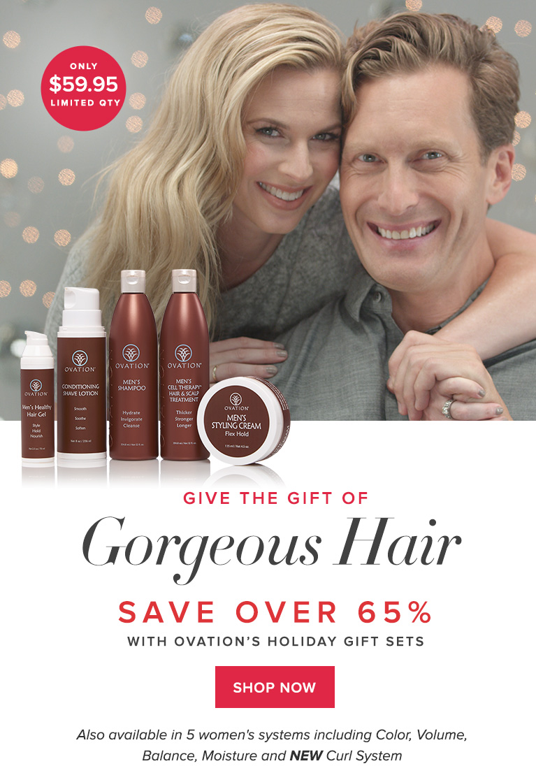 Give the Gift of Gorgeous Hair with Ovation's Holiday Sets