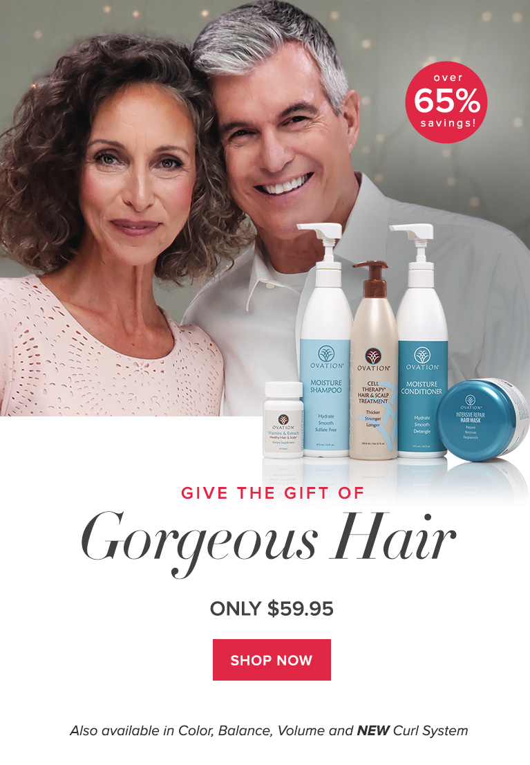 It's Time for Beautiful Hair with Ovation Hair's Holiday Set
