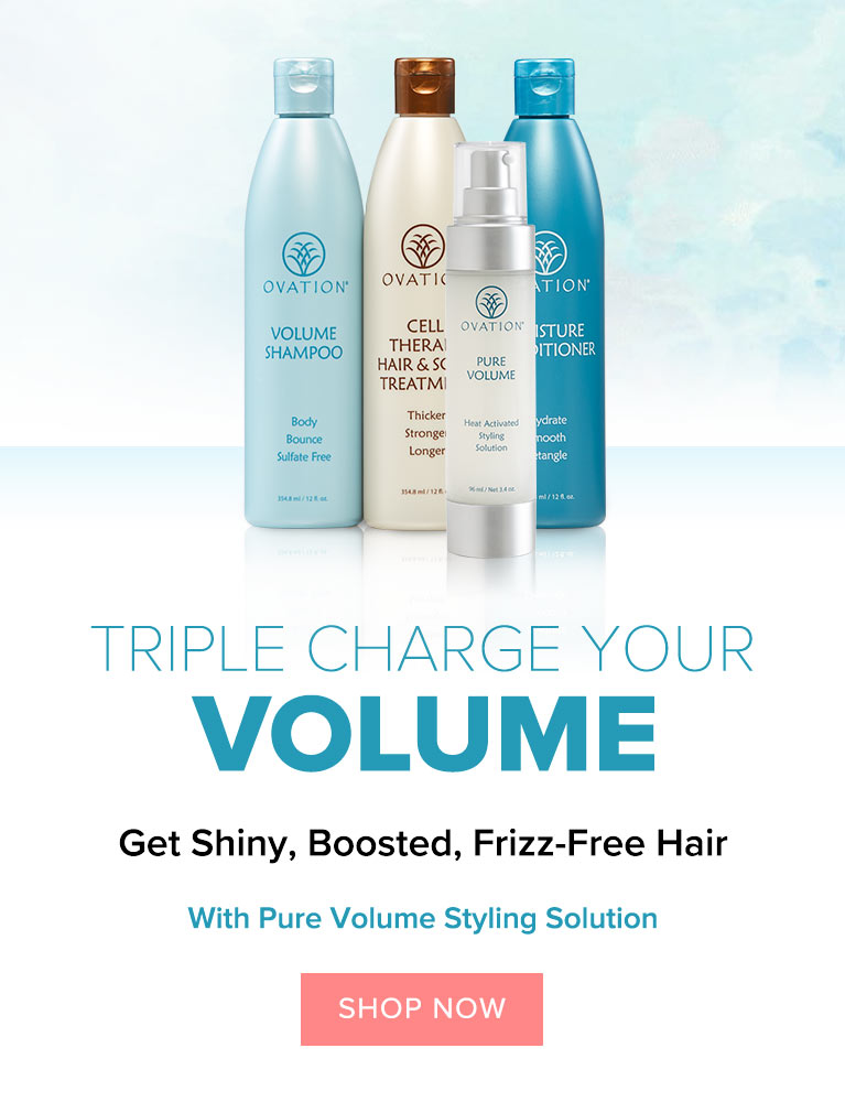 Heat Activated. Pure Volume Styling Solution.